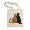 阿科家的猫:街头看美女的猫 帆布包(单肩款)