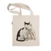 阿科家的猫:蹭脸的猫 帆布包(单肩款)