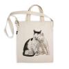 阿科家的猫:蹭脸的猫 帆布包(斜挎款)