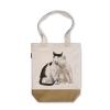 阿科家的猫:蹭脸的猫 帆布包(撞色款)