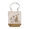 阿科家的猫:给别人闻口气的猫 帆布包(撞色款)