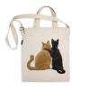 阿科家的猫:街头看美女的猫 帆布包(斜挎款)